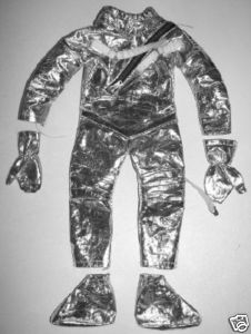 Vintage GI Joe Clothing - 5-Piece Astronaut Space Suit