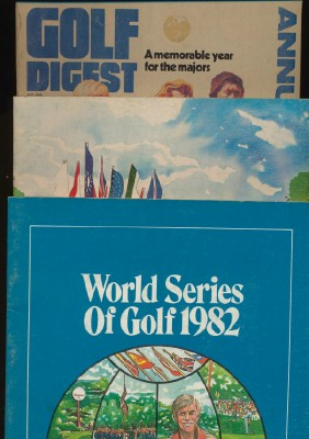 1981/1982 World Series Of Golf Programs+1981 Golf Digest Annual