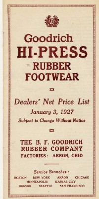 1927 Goodrich Rubber Footwear Boots & Shoes Dealer Catalog