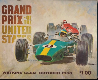 Vintage 1968 Watkins Glen Grand Prix Of The US Racing Program