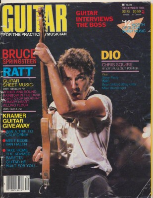 December 1984 Guitar Magazine - Bruce Springsteen Cover