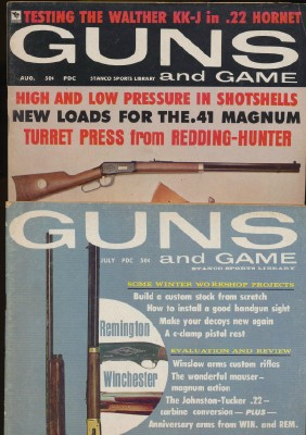 Vintage 1960s Guns And Game Magazines