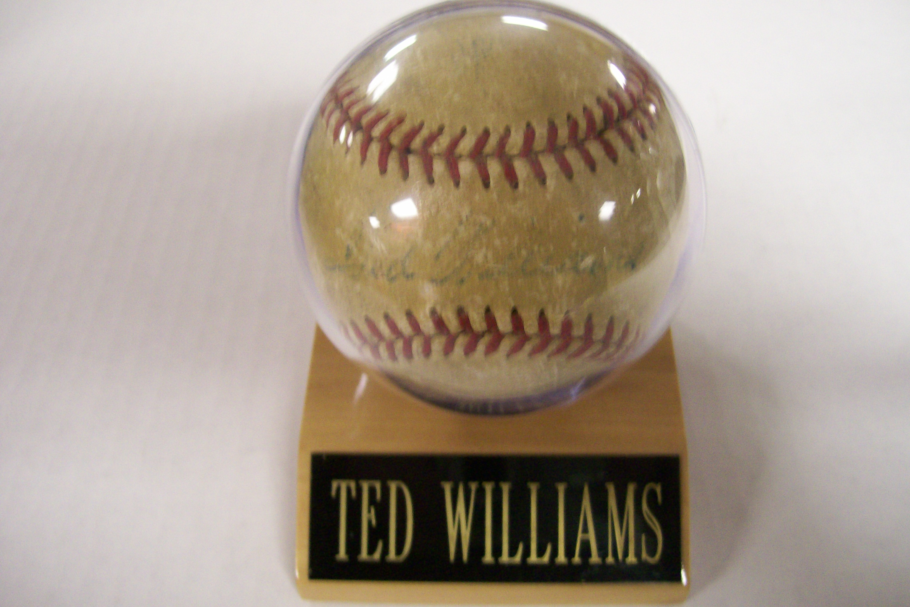 Ted Williams Autographed Baseball+Johnny Romano+Others