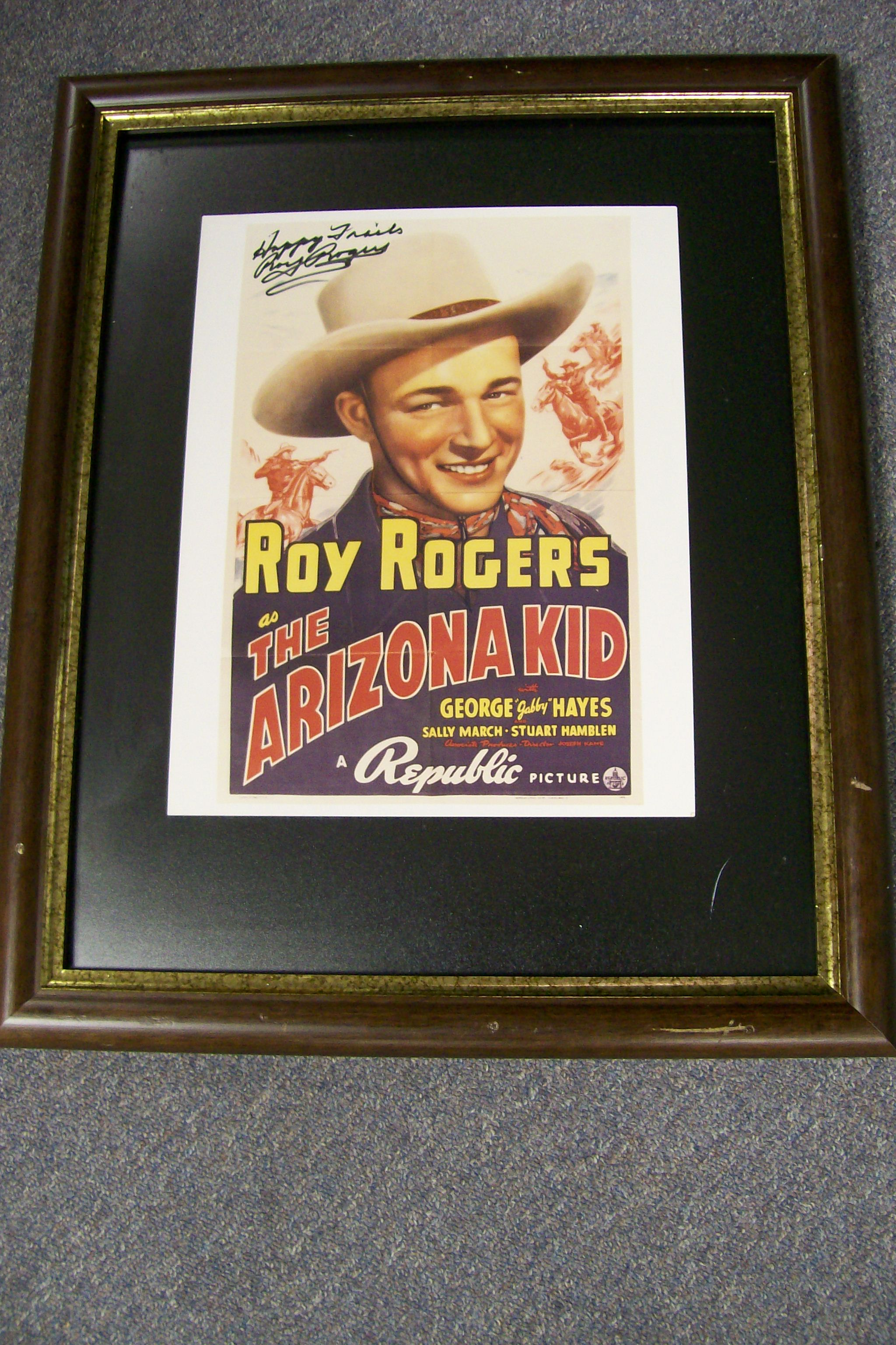 Roy Rogers Autographed Arizona Kid Poster Sold at the Museum