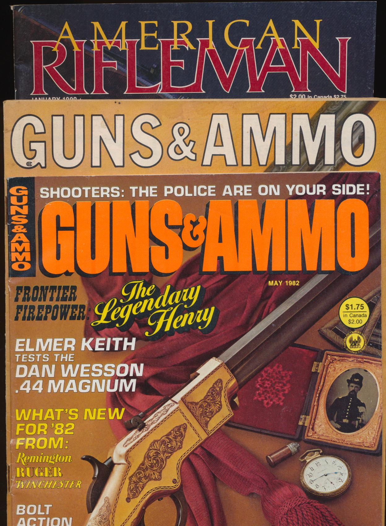 Lot Of Guns & Ammo + American Rifleman Magazines