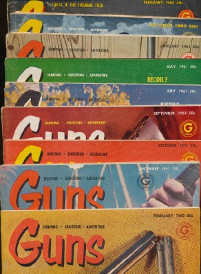 Lot Of Vintage 1960s Guns Magazines - Hunting & Shooting