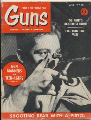 April 1959 Guns Magazine - Hunting Shooting Adventure