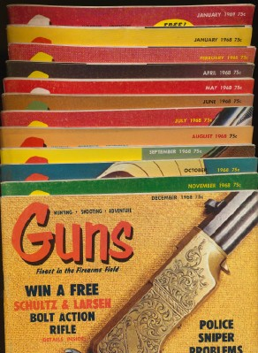 Lot Of Vintage 1968-1969 Guns Magazines - Hunting & Shooting