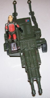 Vintage GI Joe HAL Heavy Artillery Laser With Driver