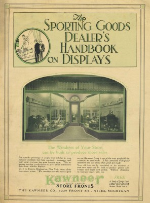 1926 Sports Equipment Dealer Store Front Display Handbook