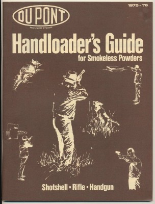 1975-76 Dupont Handloader's Guide For Smokeless Powders