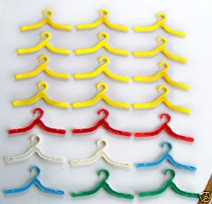 21 Pcs Barbie/Fashion Doll Clothing Clothes Hangers