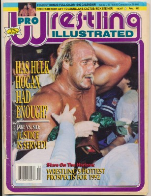 February 1992 Pro Wrestling Illustrated-Hulk Hogan Sid Justice +