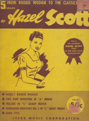 1943 Hazel Scott Boogie Woogie Sheet Music Song Book