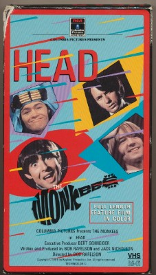 1986 Head Monkees Movie VHS Videocassette