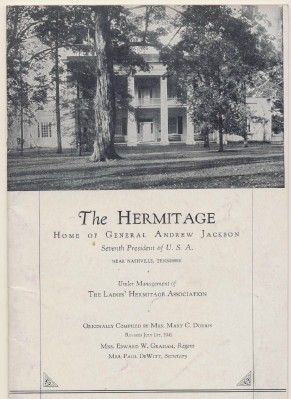 1941 Photo History Of The Hermitage & President Andrew Jackson