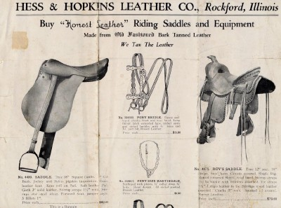 Vintage Hess & Hopkins Leather Co Advertising Brochure