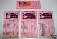 1939 Hit Parade Route Cards & Ticket - Rio Grande & Glorious