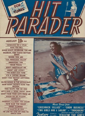 August 1951 Hit Parader Music Lyrics Magazine