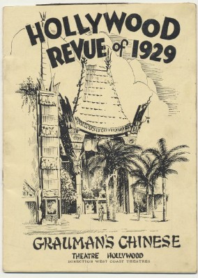 1929 Grauman's Chinese Theater Hollywood Revue Of 1929 Program