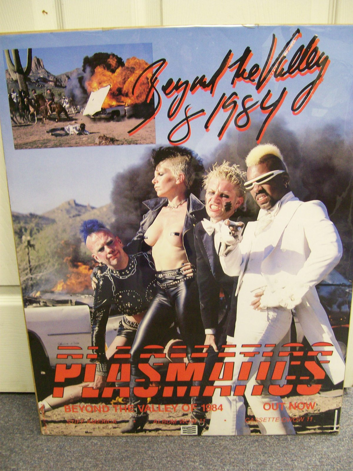 "PLASMATICS BEYOND THE VALLEY OF 1984 POSTER 22"" X 28"""