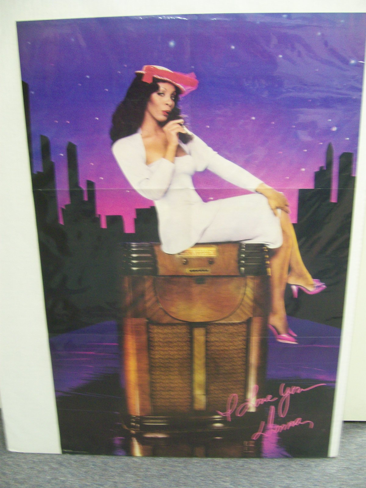 "DONNA SUMMER POSTER''ON THE RADIO""22"" X 33"""