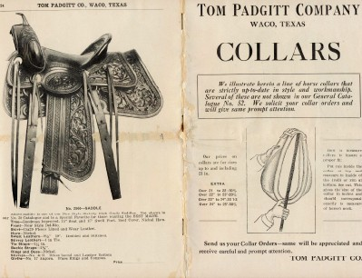 1900 Tom Padgitt Waco TX Horse Collar Trade Catalog