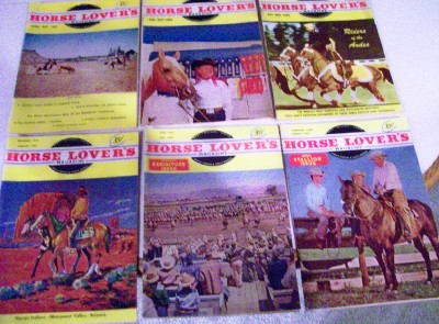Vintage 1955-58 Horse Lover's Magazine Lot - News/Pix/Stories