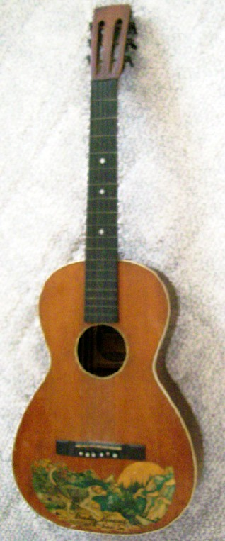 1929-31 Bradley Kincaid Houn' Dog Cowboy Guitar By Harmony