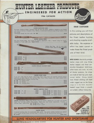 1966 Hunter Leather Hunting Gun & Police Supply Catalog