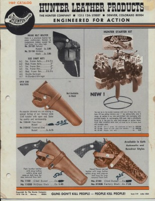 1969 Hunter Leather Hunting Gun Shooting & Police Supply Catalog