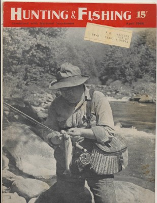 April 1944 Hunting & Fishing National Sportsman Mag Wicker Creel