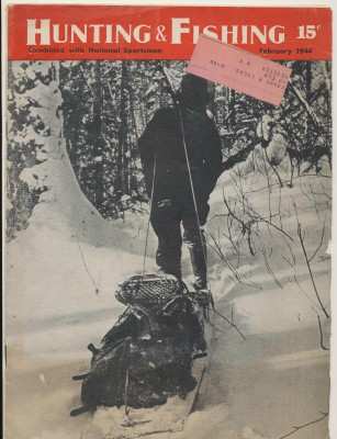 Feb 1944 Hunting & Fishing National Sportsman Mag - Snowshoeing