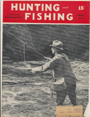March 1945 Hunting & Fishing National Sportsman Mag Wicker Creel