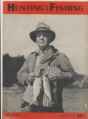 March 1943 Hunting & Fishing Magazine - Oregon Salmon Cover