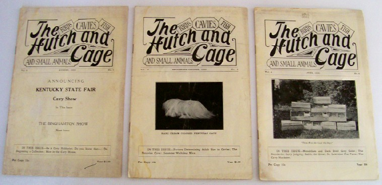 Lot Of 1930s Hutch & Cage Magazines For Cavy Breeders