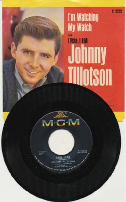 I'm Watching My Watch+I Rise I Fall-Johnny Tillotson W/Pic Sleev