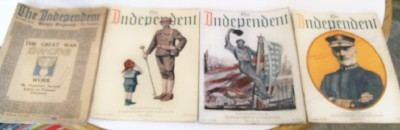 Independent Weekly News Magazine Lot 1914-1919 - WWI ++