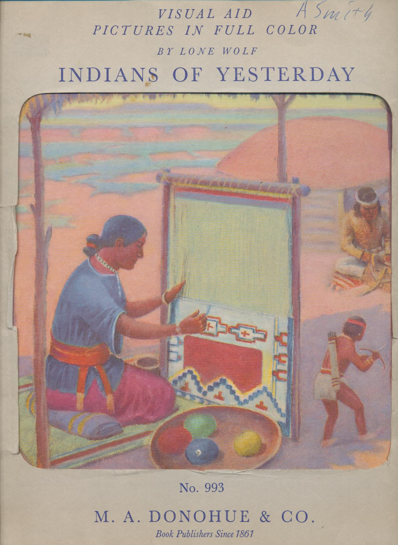 1940 Set Of Indian Prints Signed By Artist Lone Wolf