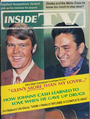 April 1970 Inside TV Magazine - Sinatra Cash Campbell Nabors