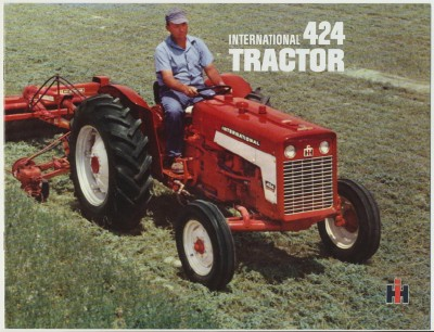 International 424 Tractor Advertising Sales Literature
