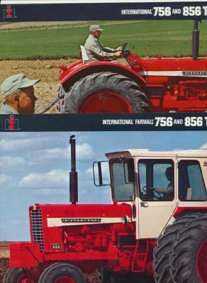 International & Farmall 756 & 856 Tractor Original Sales Lit