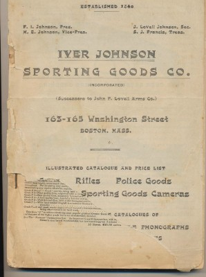 1903 Iver Johnson Sporting Goods Catalog - Guns Knives Cameras +