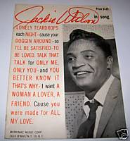 1960 Jackie Wilson Rhythm & Blues Sheet Music Song Book-11 Songs