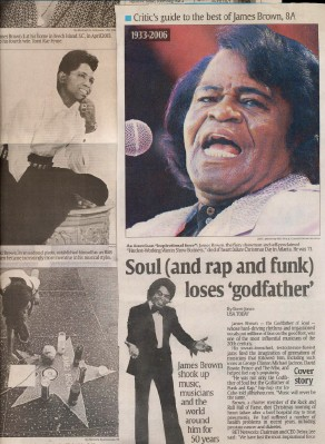 Lot Of Articles Covering The Death Of James Brown