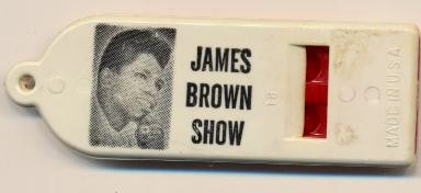 Vintage James Brown Show Audience Souvenir Whistle