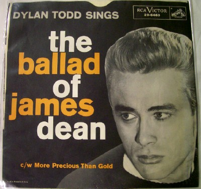 Vintage 78 RPM Picture Sleeve - The Ballad Of James Dean
