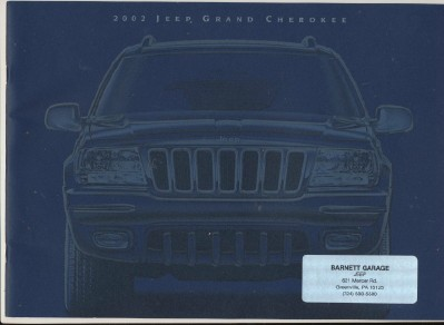 2002 Jeep Grand Cherokee Showroom Sales Literature Book