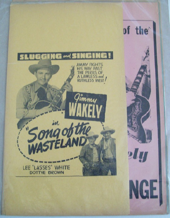 1940s Jimmy Wakely Singing Cowboy Movie Advertising Broadsides