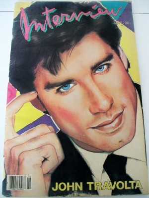 1985 Interview Fan Magazine John Travolta Cover + Little Richard